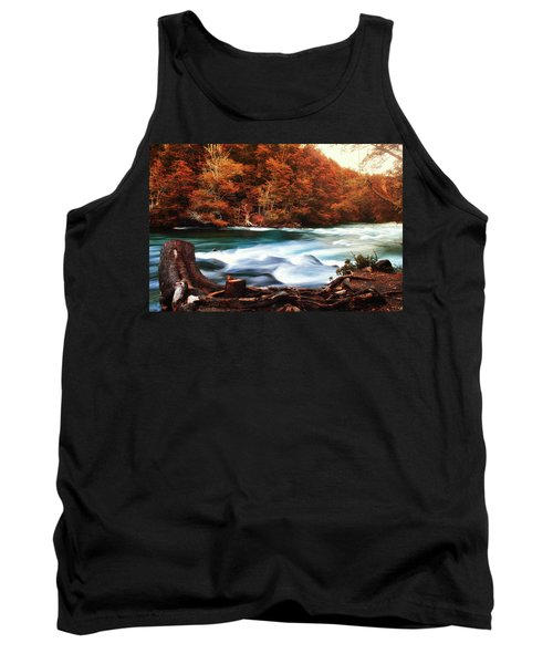 Autumnal Landscape With Lake In The Argentine Patagonia Tank Top