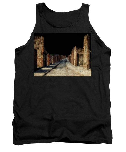 Tank Top featuring the digital art Main Street, Pompeii by Lois Bryan