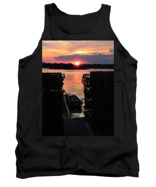 Maine Sunset And Traps Tank Top