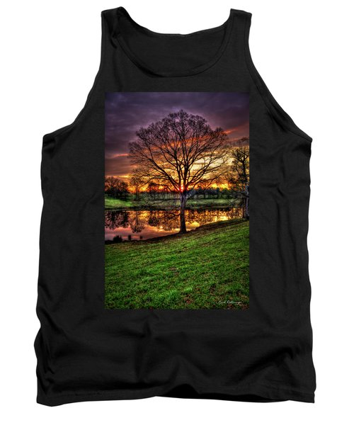 Majestic Sunrise Reflections Art Tank Top