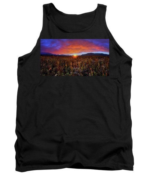Majestic Sunset Over Cades Cove In Smoky Mountains National Park Tank Top