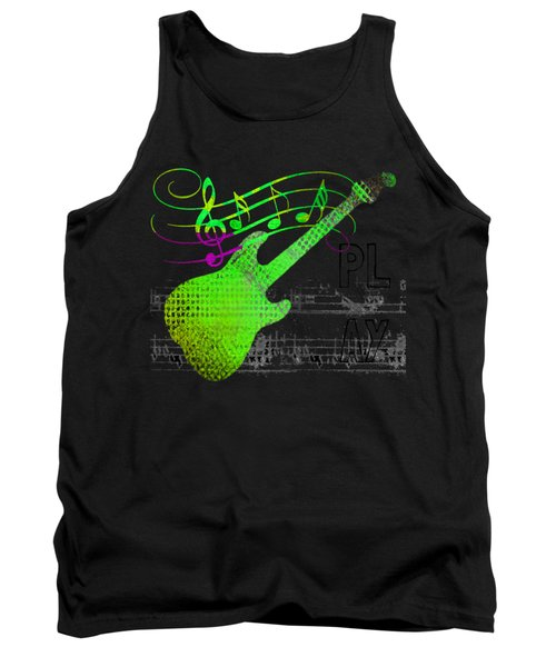 Tank Top featuring the digital art Making Music by Guitar Wacky