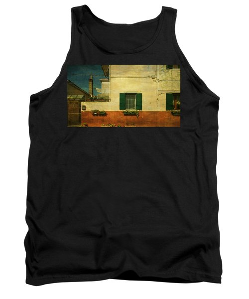 Tank Top featuring the photograph Malamocco Facade No1 by Anne Kotan