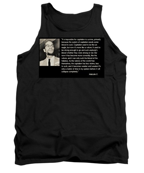 Malcolm X  On Capitalism And Vultures Tank Top