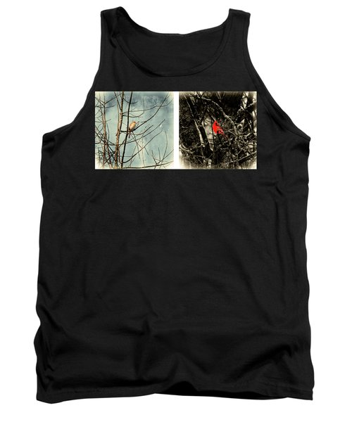 Male And Female Cardinal Tank Top