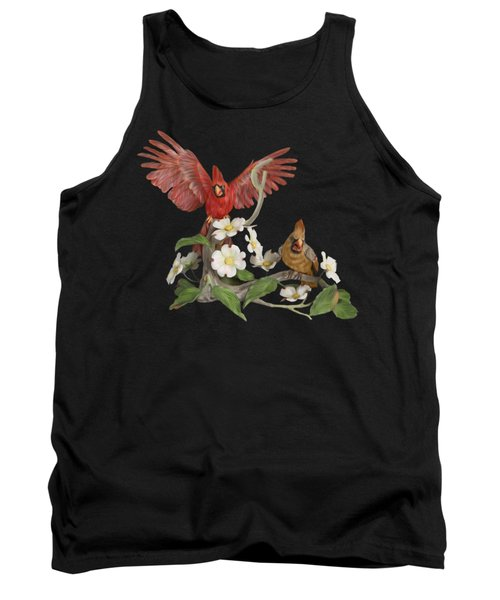 Male And Female Cardinals  Tank Top by Walter Colvin
