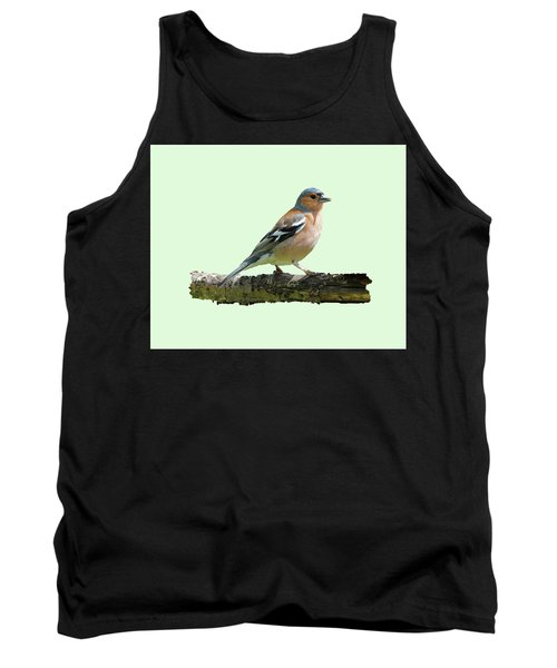 Male Chaffinch, Green Background Tank Top by Paul Gulliver