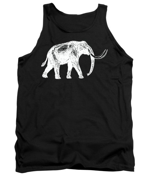 Mammoth White Ink Tee Tank Top by Edward Fielding