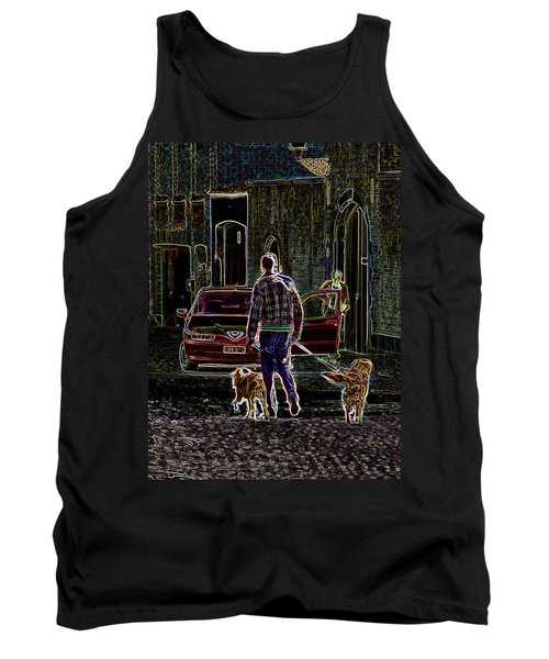 Tank Top featuring the photograph Man And Best Friends by Rhonda McDougall