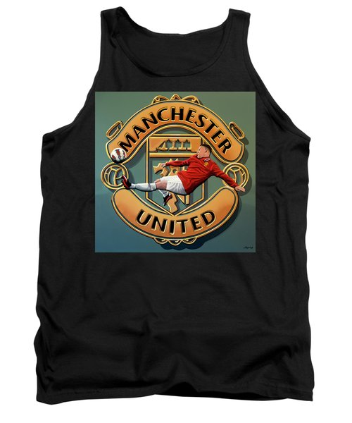 Manchester United Painting Tank Top by Paul Meijering
