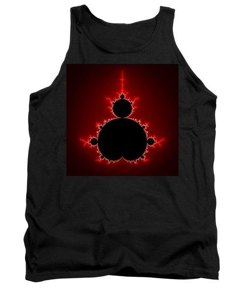 Mandelbrot Set Black And Red Square Format Tank Top