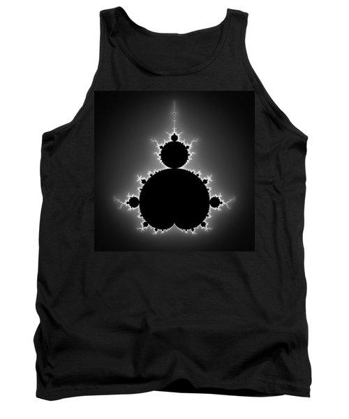 Mandelbrot Set Black And White Fractal Art Tank Top