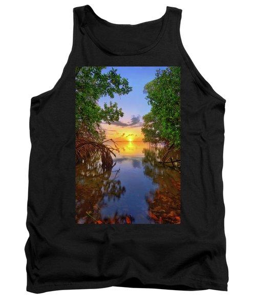Mangrove Sunset From Jensen Beach Florida Tank Top
