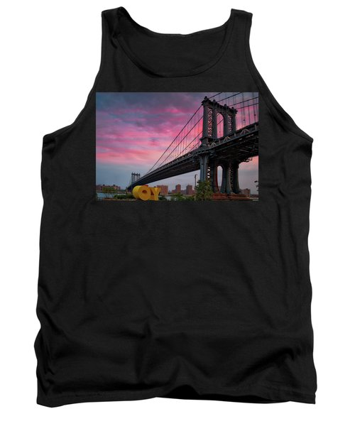Tank Top featuring the photograph Manhattan Bridge At Sunrise  by Emmanuel Panagiotakis