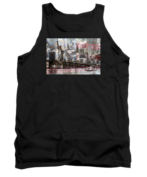 Tank Top featuring the photograph Manhatten From Above by Hannes Cmarits