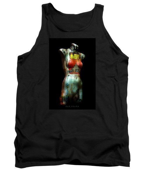 Tank Top featuring the painting Mannequin Graffiti by Kim Gauge