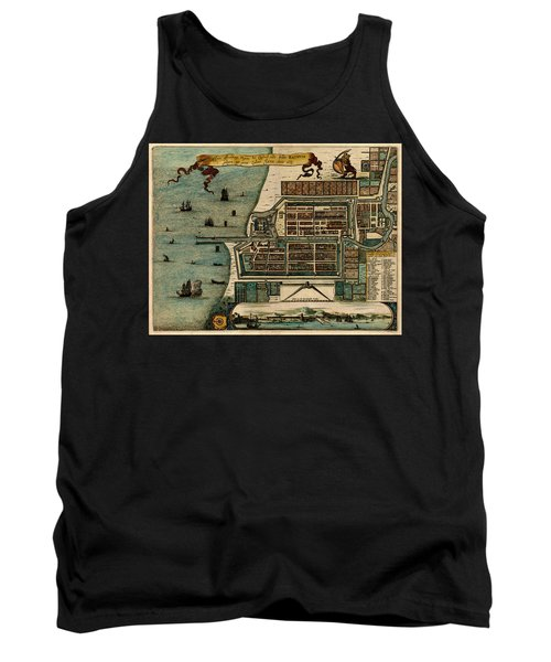 Map Of Java 1669 Tank Top by Andrew Fare