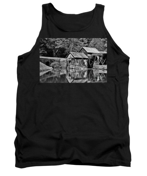 Tank Top featuring the photograph Marby Mill In Black And White by Paul Ward
