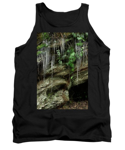 Tank Top featuring the photograph March Icicles 2 by Mike Eingle