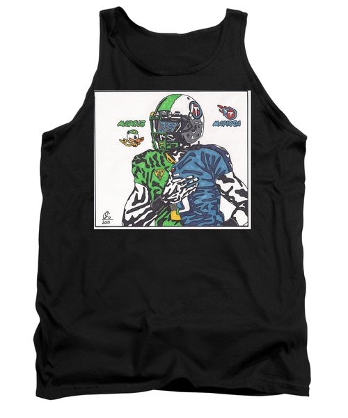 Marcus Mariota Crossover Tank Top by Jeremiah Colley