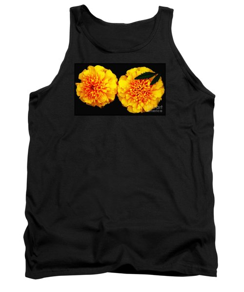 Tank Top featuring the photograph Marigolds With Oil Painting Effect by Rose Santuci-Sofranko