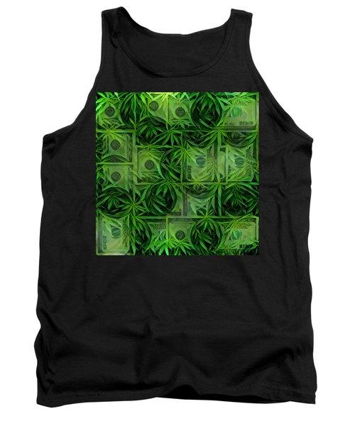 Marijuana Dollars Tank Top