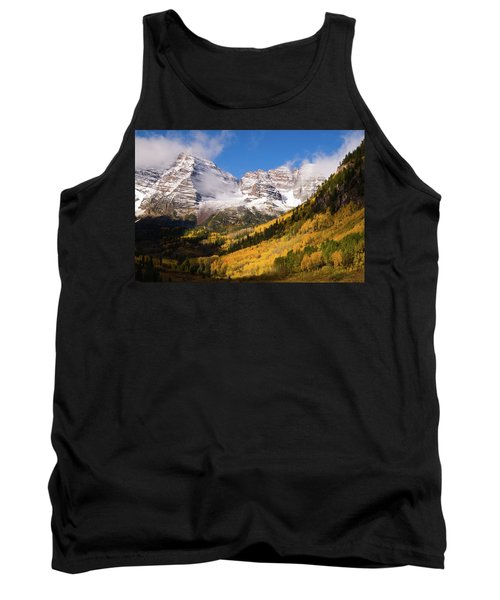 Tank Top featuring the photograph Maroon Bells by Steve Stuller