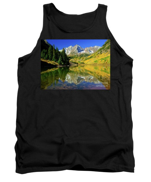 Maroon Lake Autum - 1 Tank Top