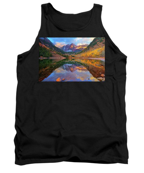 Maroon Lake Dawn Tank Top by Greg Norrell
