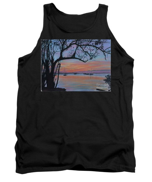 Marsh Harbour At Sunset Tank Top