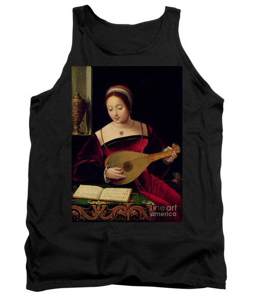 Mary Magdalene Playing The Lute Tank Top