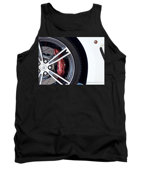 Maserati Wheel White Tank Top