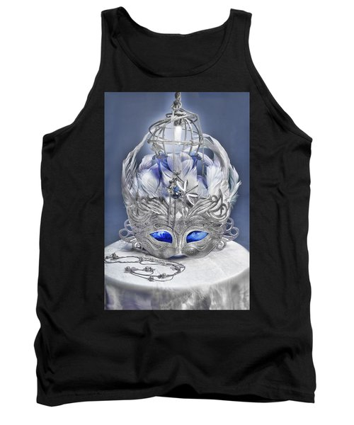 Mask Still Life Blue Tank Top