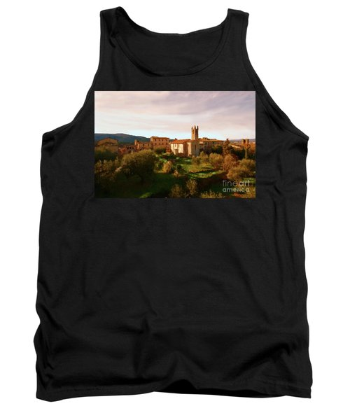 Tank Top featuring the painting Medieval Tuscany by Rosario Piazza