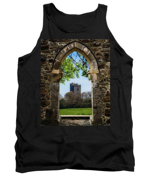 Tank Top featuring the photograph Medieval Vista Of Dysert O'dea Castle by James Truett