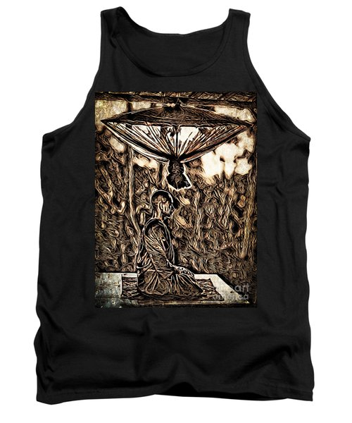 Meditating Monk Tank Top