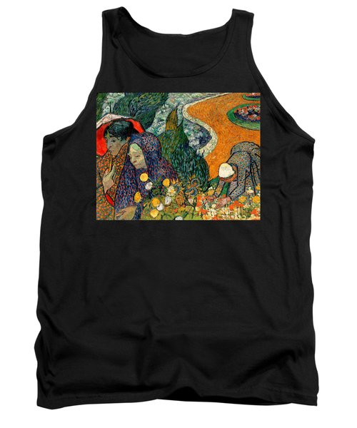 Tank Top featuring the painting Memory Of The Garden At Etten by Van Gogh
