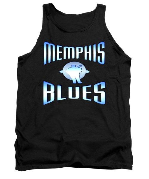 Memphis Blues Tshirt Design Tank Top by Art America Gallery Peter Potter
