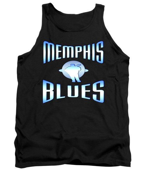 Memphis Blues Music Design Tank Top