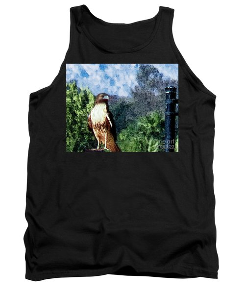 Tank Top featuring the photograph Menifee Falcon by Rhonda Strickland