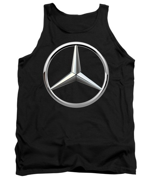 Mercedes-benz - 3d Badge On Black Tank Top by Serge Averbukh
