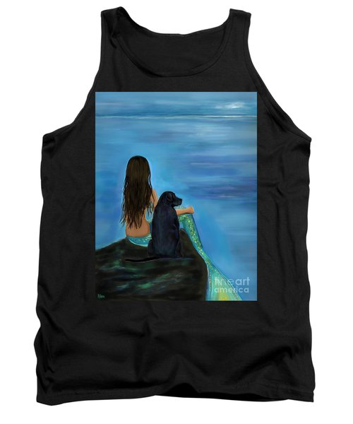 Tank Top featuring the painting Mermaids Loyal Bud by Leslie Allen