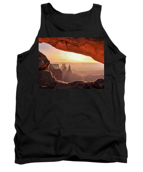 Mesa Arch At Sunrise, Washer Woman Formation , Canyonlands National Park, Utah Tank Top