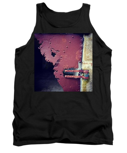Metal Door Ode To Sam Tank Top by Suzanne Lorenz