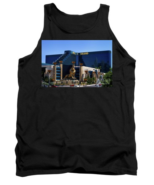 Mgm Grand Hotel Casino Tank Top by Mariola Bitner