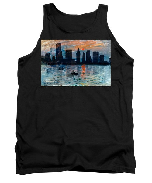 Miami Skyline 7 Tank Top by Andrew Fare