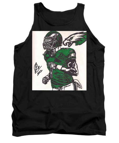 Tank Top featuring the drawing Micheal Vick by Jeremiah Colley
