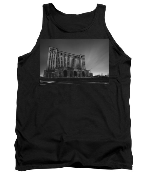 Michigan Central Station At Midnight Tank Top