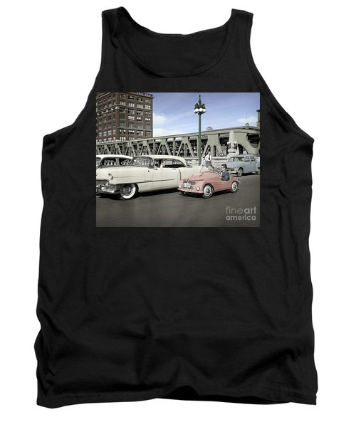 Tank Top featuring the photograph Micro Car And Cadillac by Martin Konopacki Restoration