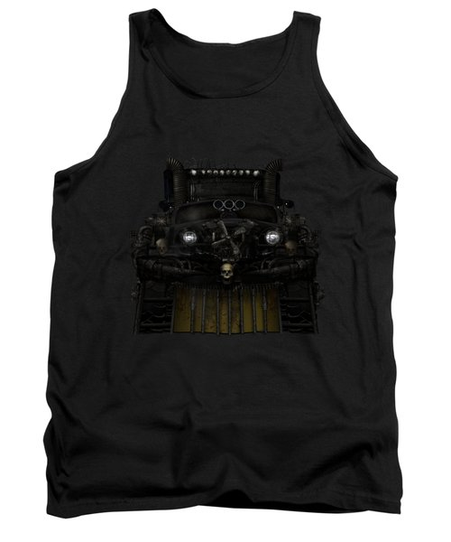 Tank Top featuring the digital art Midnight Run by Shanina Conway
